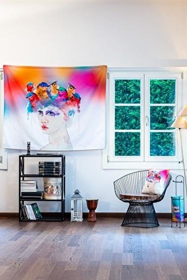 home-bath Duvar Örtüsü Flying Girls Renkli